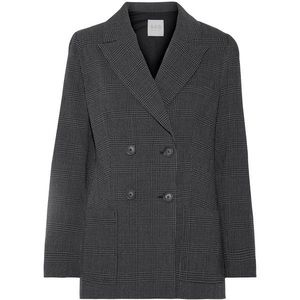 Sea Prince of Wales Checked Wool Crepe Blazer XS